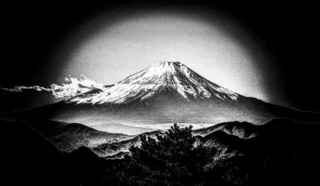 日本画 富士山