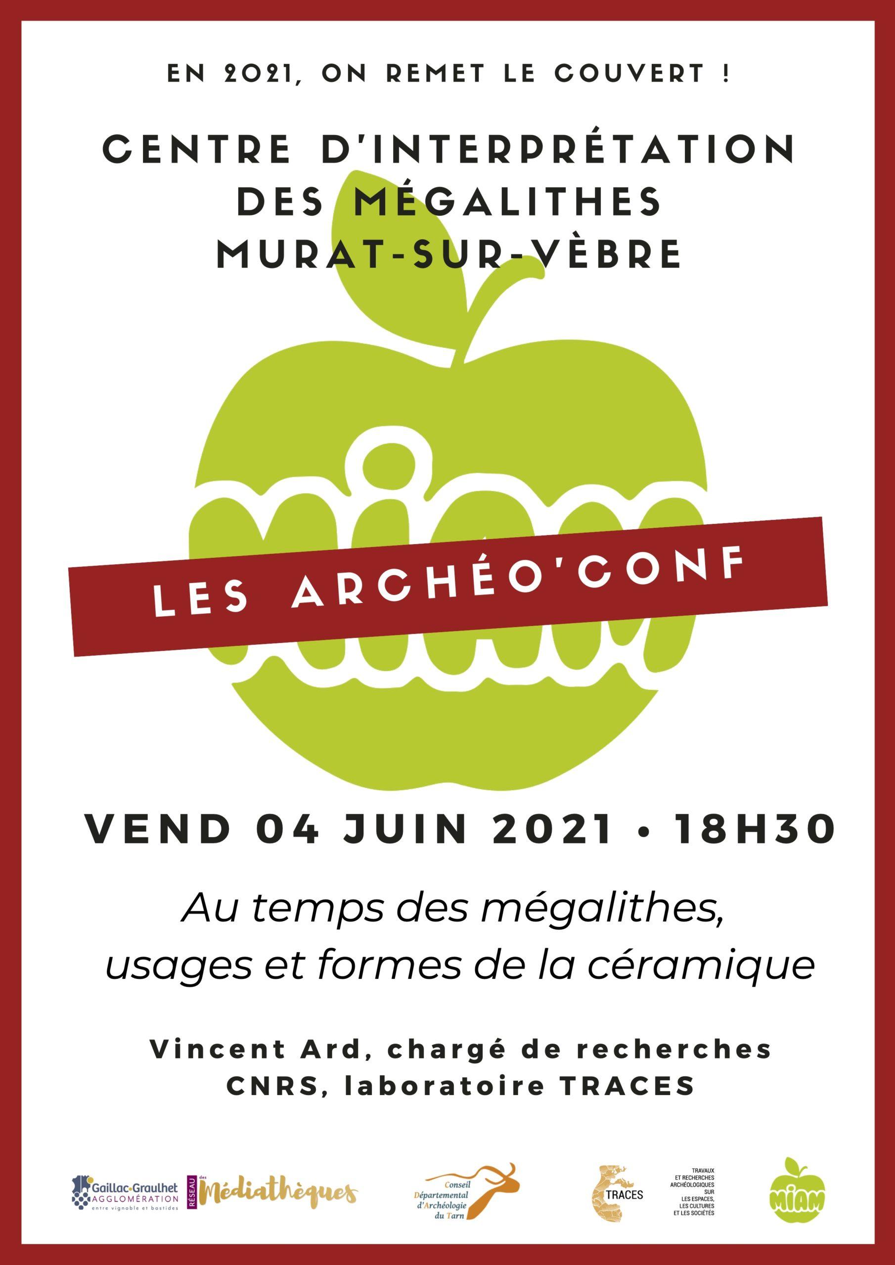 archéo'conf 2021 se déroule au centre d'interprétation des mégathiques de Murat sur zèbre