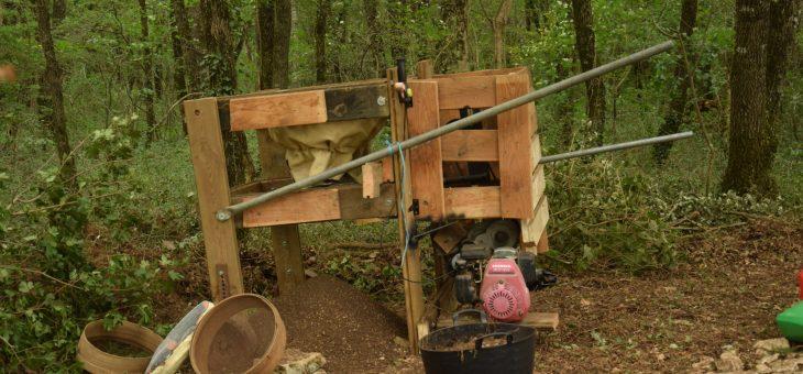 Une machine inédite pour tamiser les sédiments