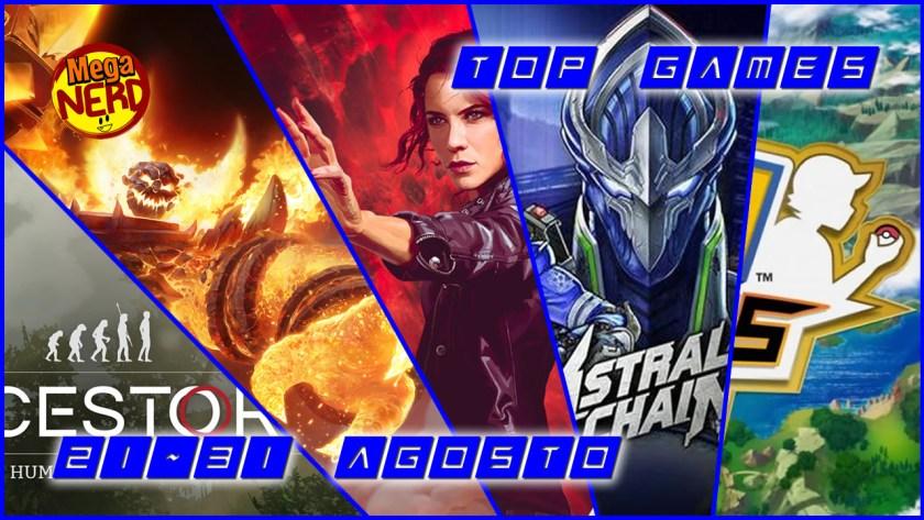 Top Games 21-31 Agosto