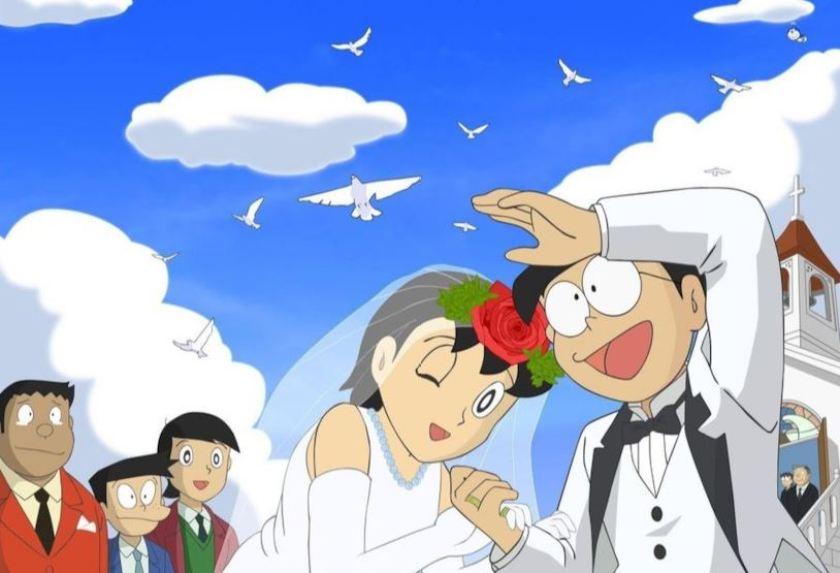 Nobita e Shizuka