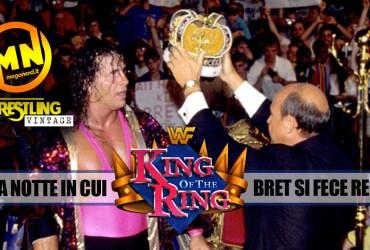 copertina wrestling vintage king bret