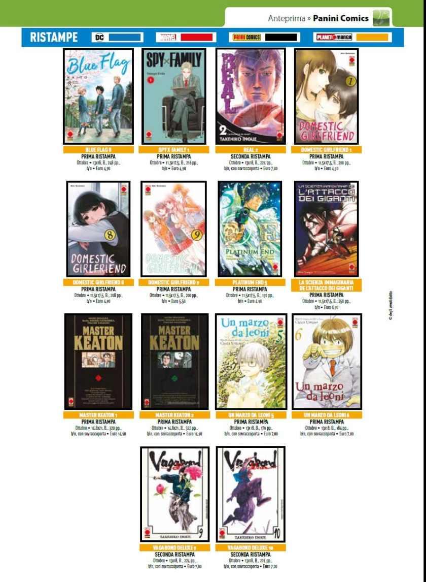 Planet Manga - Tutte le uscite di Ottobre