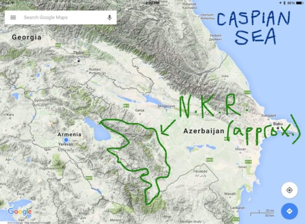 Armenia, Nagorno-Karabakh Republic and Azerbaijan.