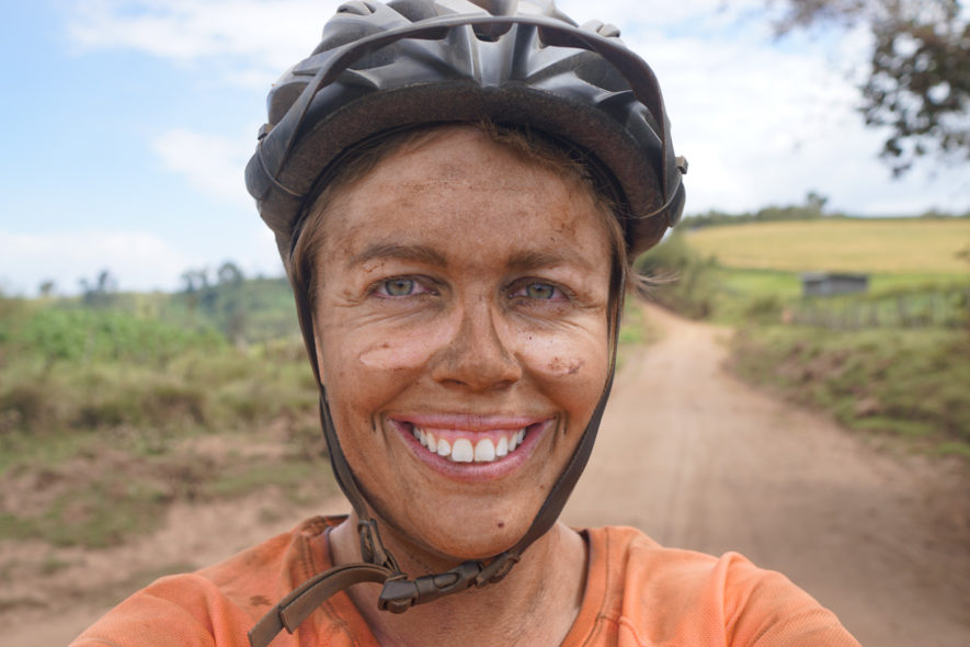 Me in western Kenya with dust from the road covering my face