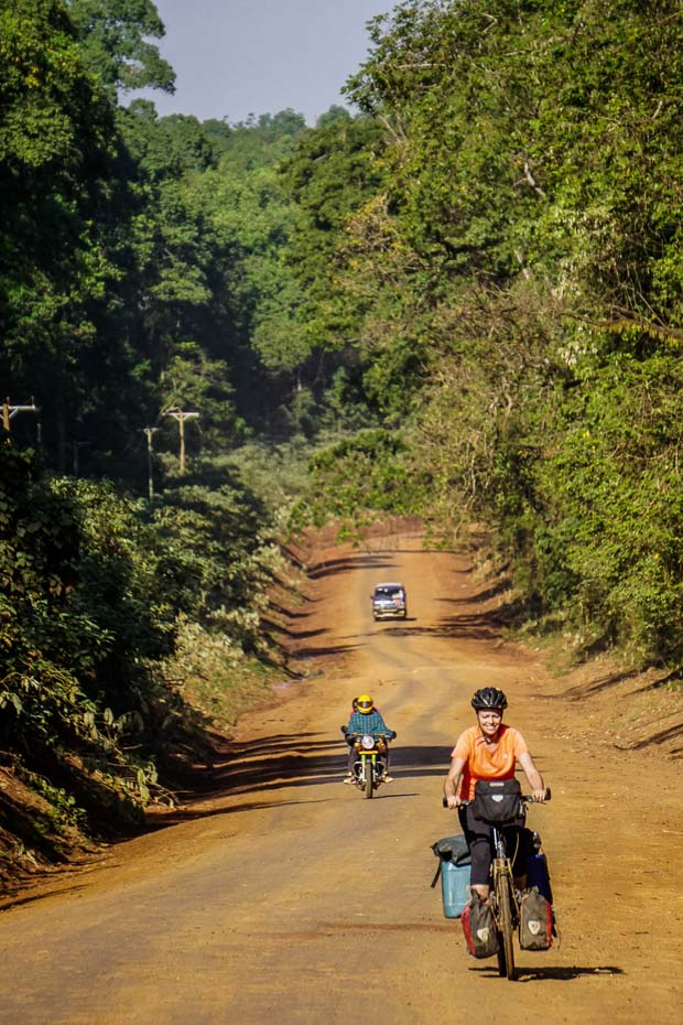 me cycling through Kakamega Forest, Kenya
