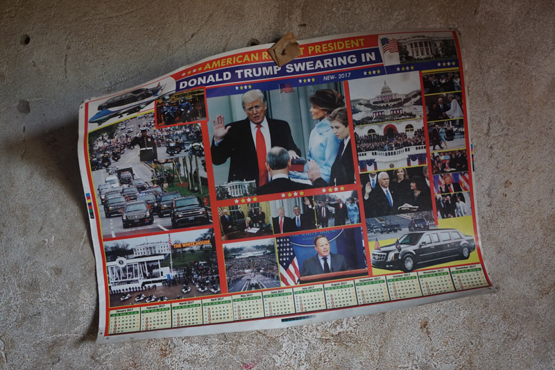 a poster with photos of Donald Trump Presidential Swearing in and the title American Richest President