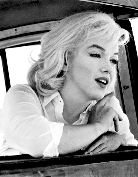 Marilyn by Ernst Haas during the filming of The Misfits in 1960.