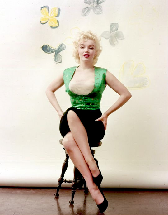 Marilyn by Milton Greene in March 1955.