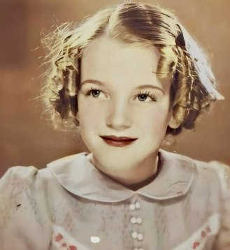 Little Norma Jeane, aged seven, in 1933.