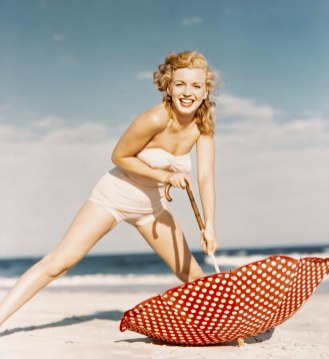 Marilyn on Tobey Beach by Andre de Dienes on July 23rd 1949.