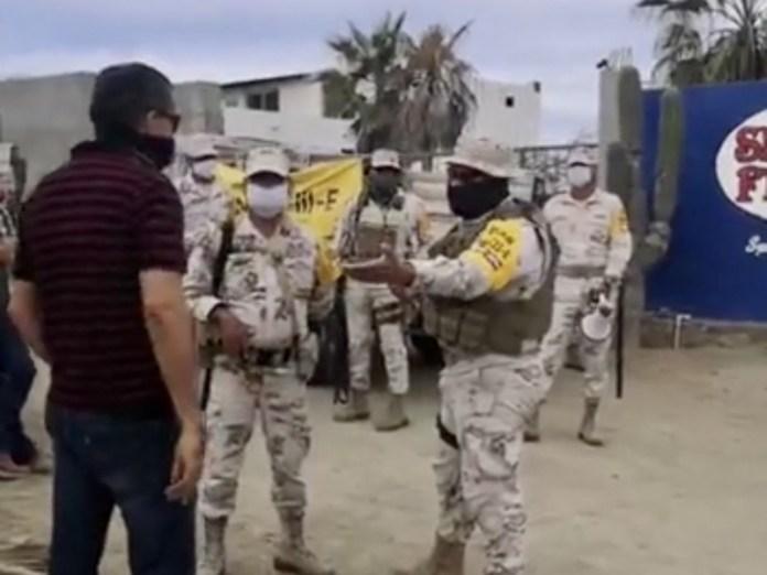Defensa disuelve filtro de acceso en Todos Santos - MEGANOTICIAS