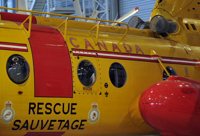 Rescue Helicopter at Canadian Aviationa and Space Museum