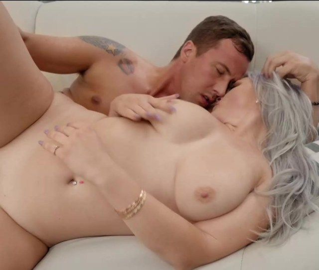 Mature Woman Sunny Hart Lets Young Lover Titty Fuck Those Big Natties Before Bending Her Over
