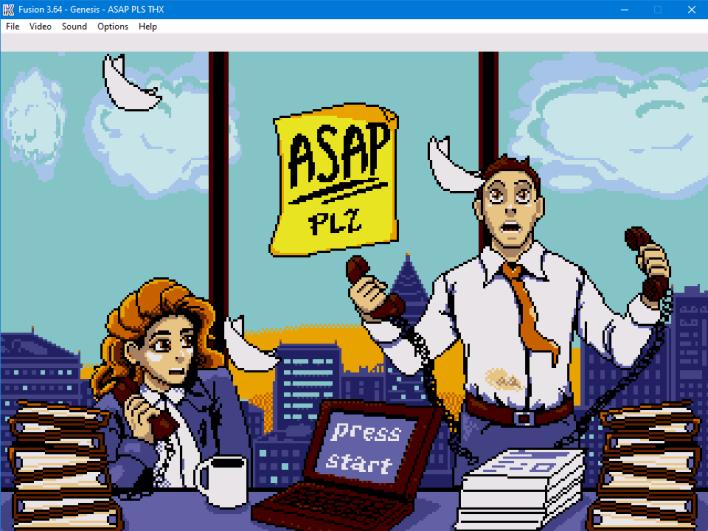 ASAP Plz start screen