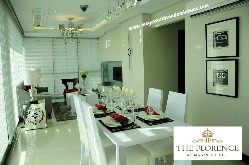 Florence 2 bedroom model unit living room
