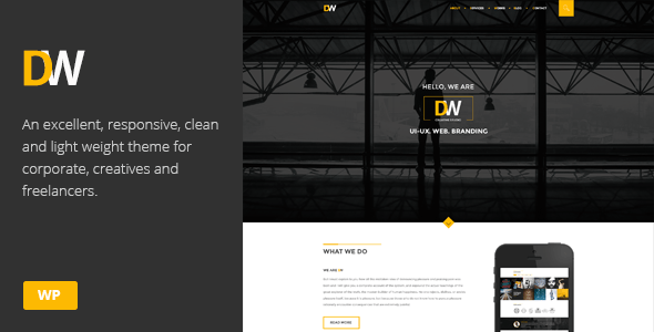 DW  Creative One Page WordPress Theme