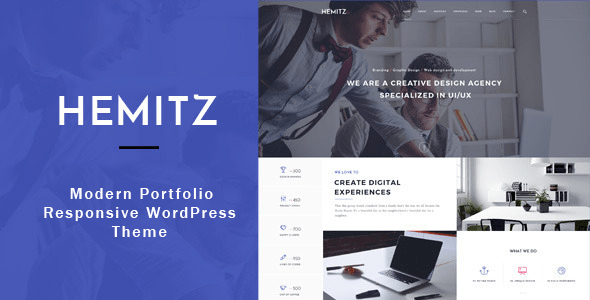 Hemitz – WordPress theme for Portfolio and Creative Agency