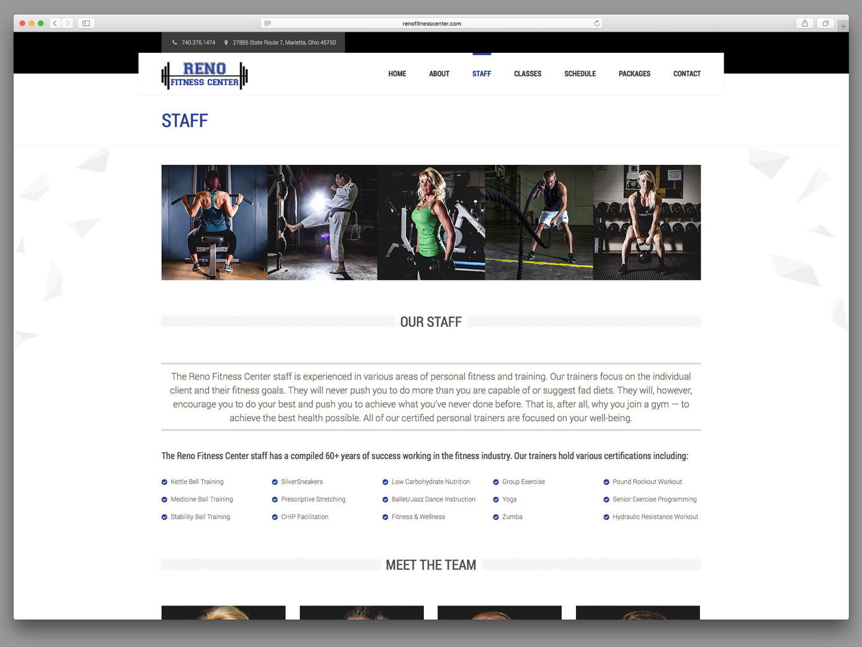 Reno Fitness Center Website