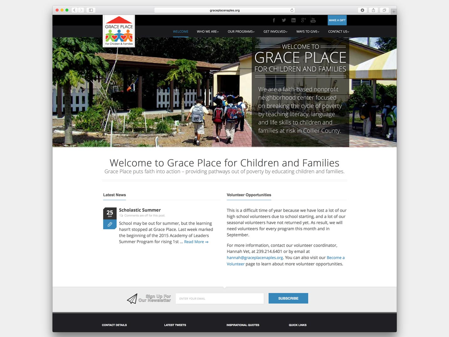 Grace Place Website