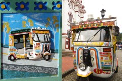 tuktuk owner personalized his zocalo
