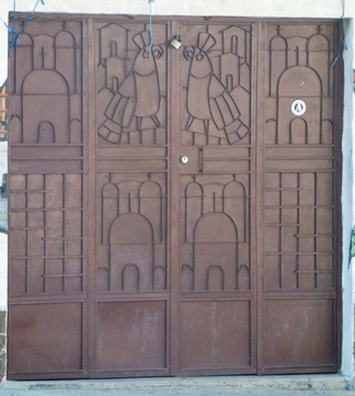 art was incorporated into the metal work on doors and windows