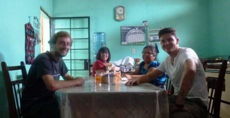 Johann, me and Mr Mitch, Mama Debora, y Josh