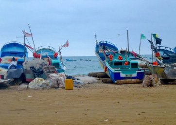 Fishing boats ...