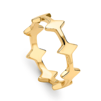 Missoma 18CT Gold Double Arrow Ring
