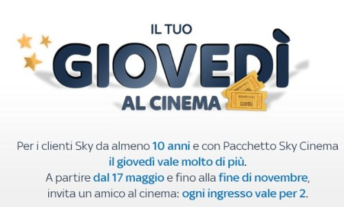 sky  ti regala il cinema