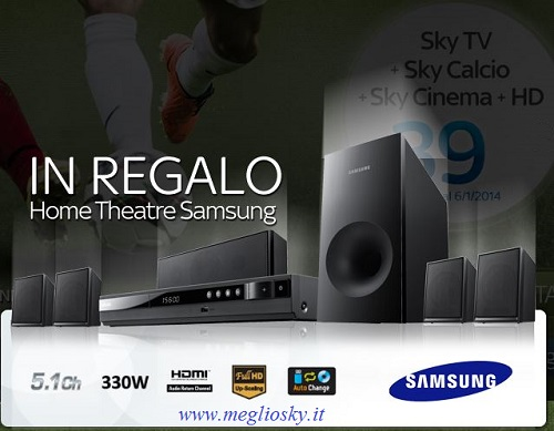 home theatre samsung in regalo con sky
