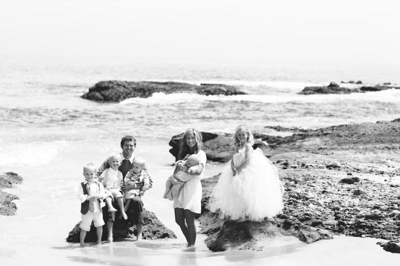 Wallace Family; Laguana Beach; family fun; five kids; One Glass Slipper; tide