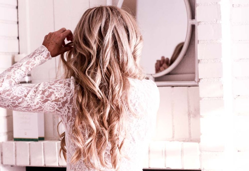 super easy three step braid; step by step tutorial for the lisa braid; blonde hair; long blonde hair
