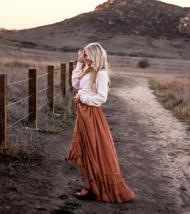 meg marie  free people dress and sweater from walmart; mixing and matching name brand with inexpensive