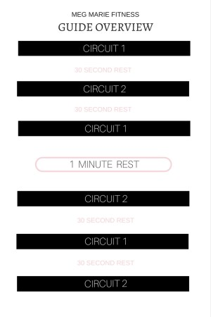 DAILY OVERVIEW | CIRCUIT 1 AND 2 | meg marie fitness | 12 week FREE workout plan