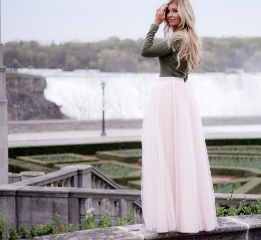 fancy at the falls; pink tulle skirt, tulle maxi; bliss tulle; meg marie wallace