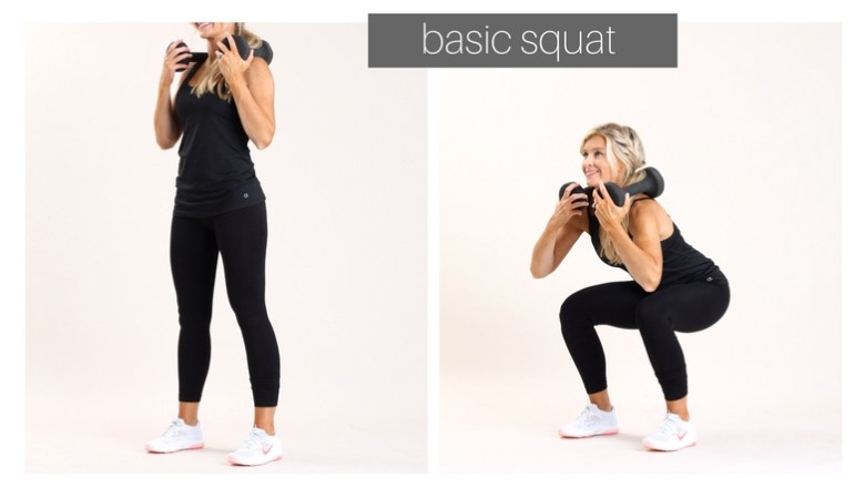 basic squat |meg marie fitness | ft for a purpose