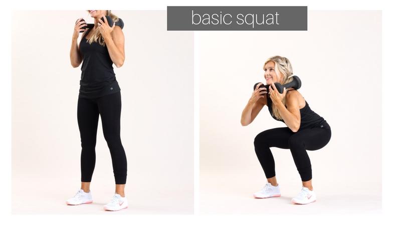 basic squat |meg marie fitness | ft for a purpose