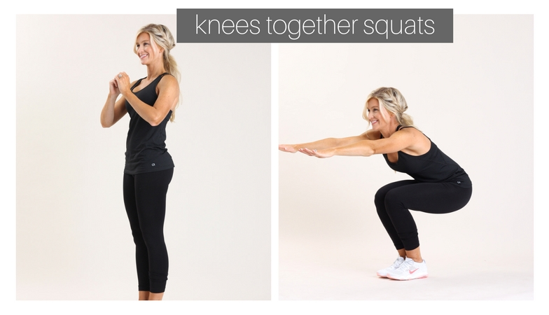 knees together squats