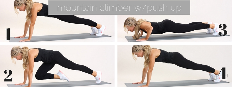 mountain climber with push up
