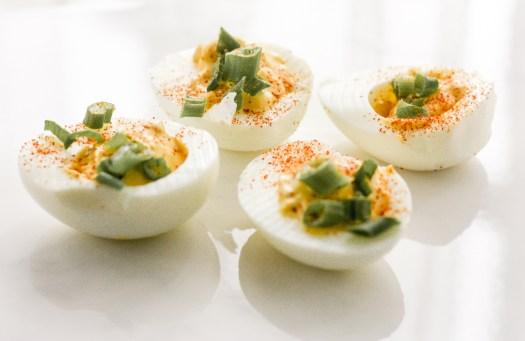 deviled eggs; week 4 recipe   meg marie fitness