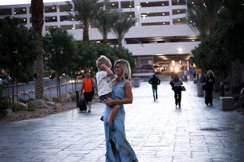 Vegas | blue ruffle dress | meg marie wallace