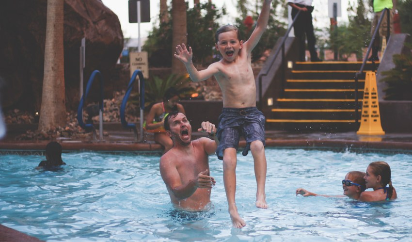 pool time | vegas vacation | meg marie and family | 2017