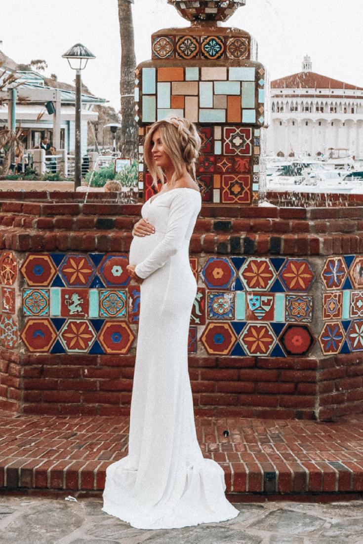 shop pink blush maternity style | maternity clothes | baby bump style | meg marie wallace | white maternity dress