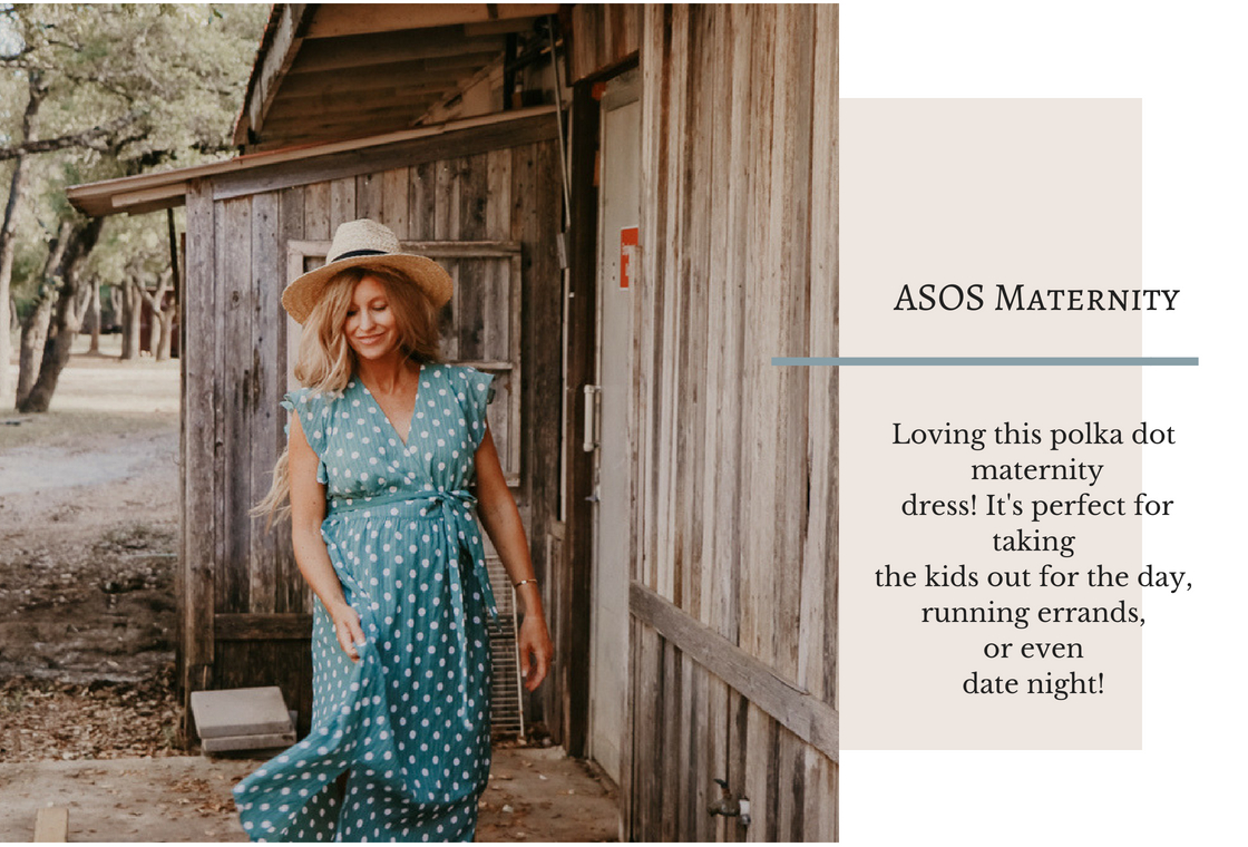 asos maternity | polka dot dress | meg marie wallace | maternity style | pregnancy