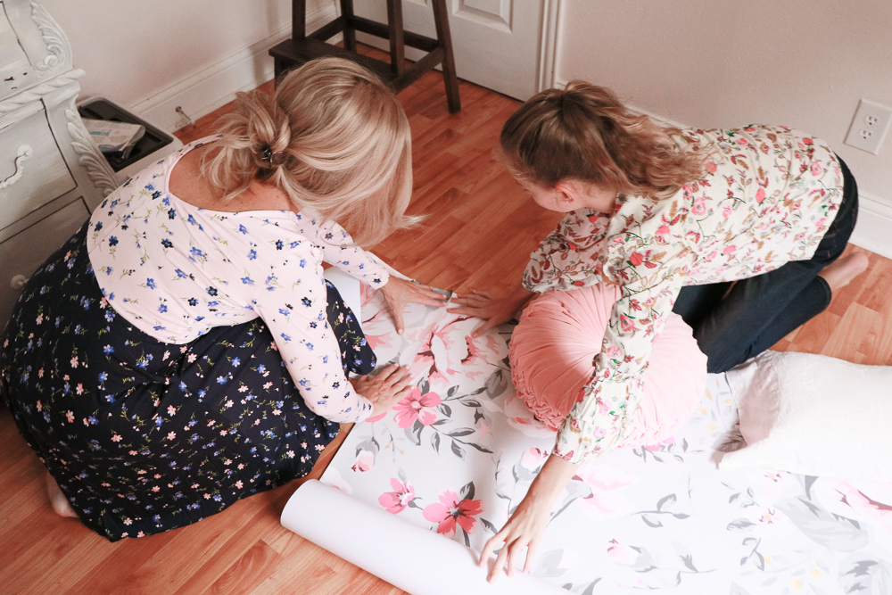 Kate's room with coloray decor | meg marie Wallace | wall paper | girls room