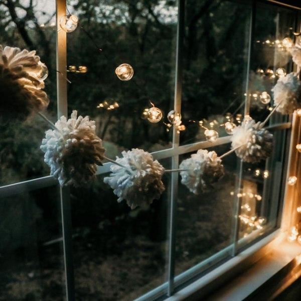 winter white pom garland | meg Marie Wallace | W6 Christmas shop