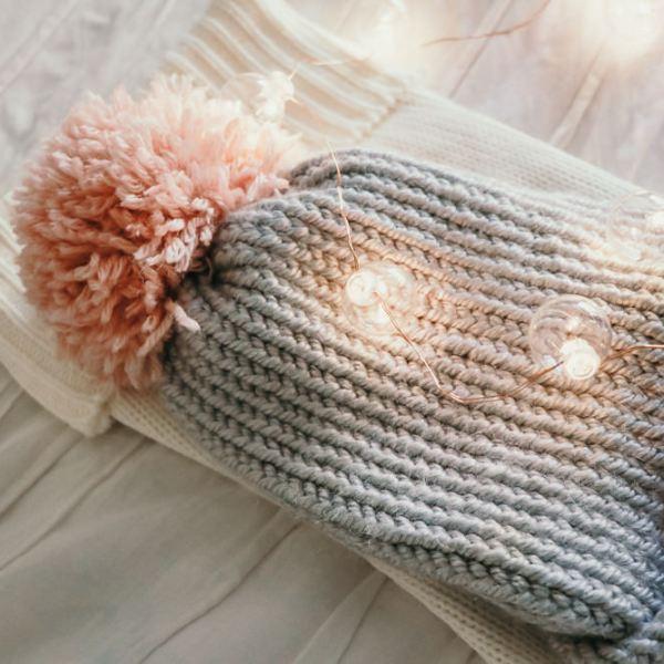 Cupid Girls Pink Pom Beanie | meg Marie Wallace | W6 Christmas Shop