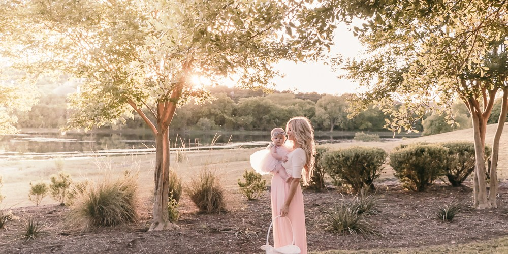 Easter with Pink Blush Maternity