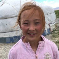 She's a natural redhead, quite unusual in Mongolia, and takes a lot of teasing. However, she's very good-natured about it.